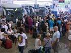 Após feriado de réveillon, volta para casa é de caos na rodoviária do Rio