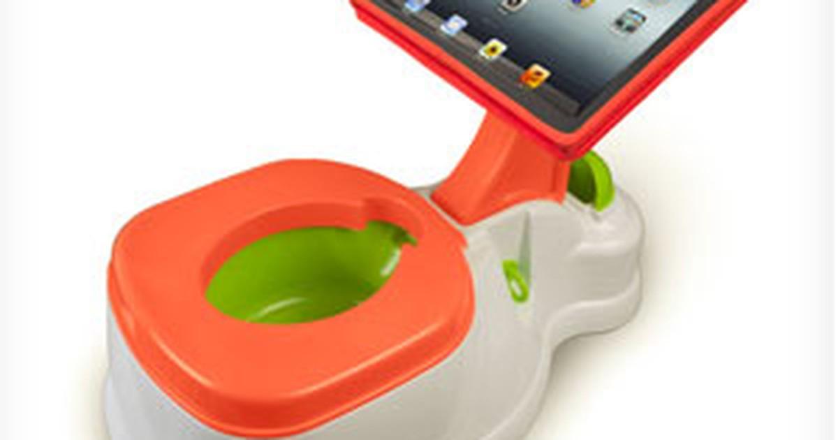 Penico para crianças com suporte para iPad irrita os pais nos EUA