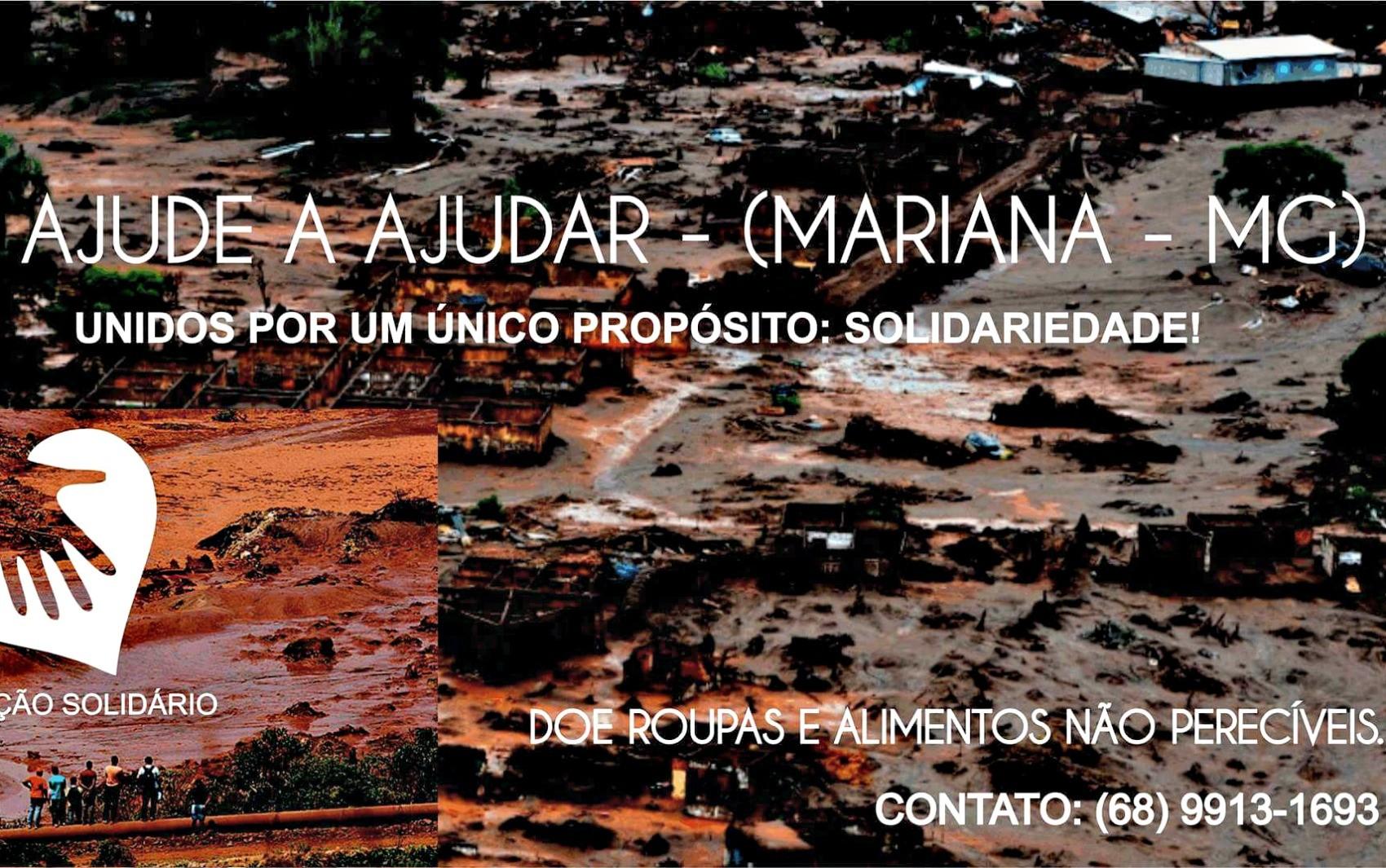 ONG de Rio Branco arrecada doações para famílias de MG (Foto: Divulgação)