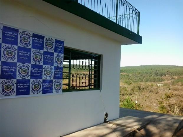 Base da Guarda Ambiental no Parque Ecológica da Barreira fica em pontos estratégico. (Foto: Giliardy Freitas / TV TEM)