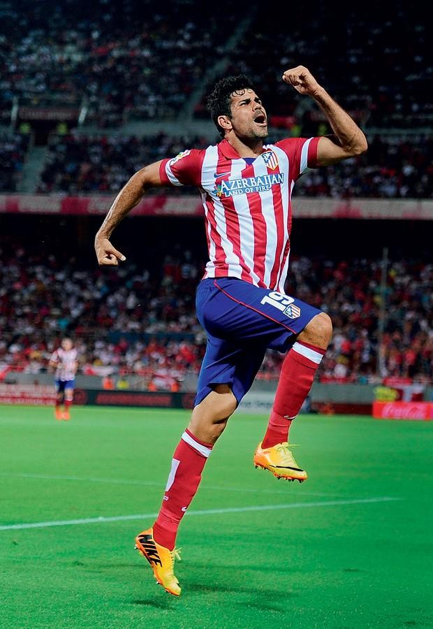 4e7a0d9d25 ARTILHEIRO Costa comemora gol pelo Atlético de Madrid. Ele vive a melhor  fase de sua