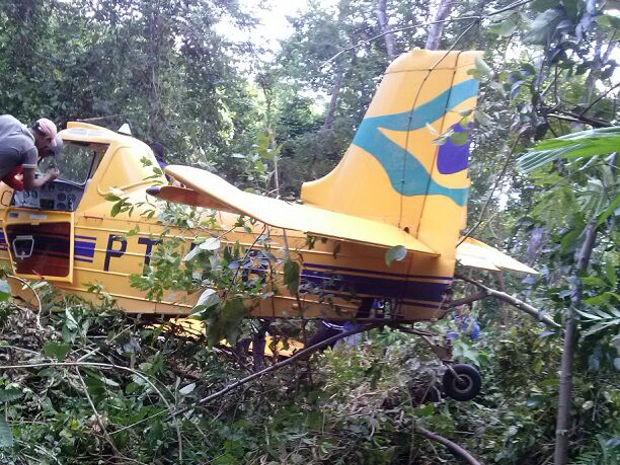 Avião que caiu na terça-feira (11) só foi localizado após dois dias de buscas (Foto: Adriano Costa / TV Liberal)
