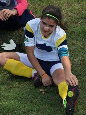 Taci Pereira é capitão do time de futebol da escola (Foto: Arquivo pessoal)