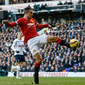 van Persie, Manchester United x Tottenham (Foto: AP)