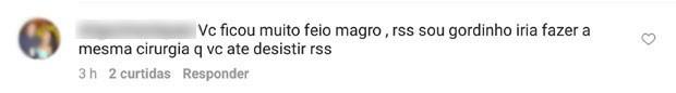 Leandro Hassum é criticado por seguidor (Foto: Reprodução)