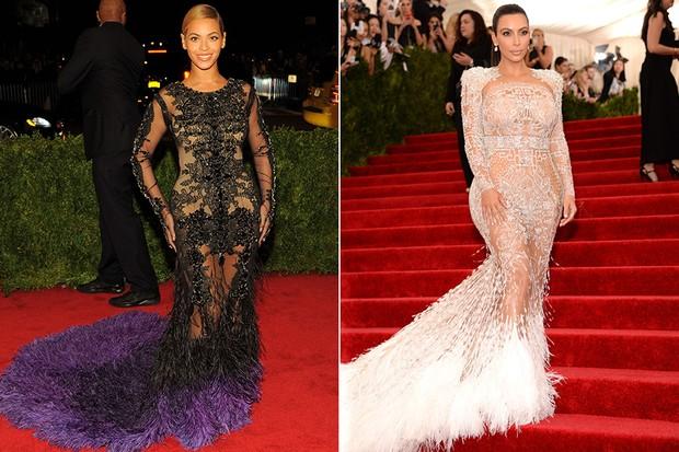 Kim Kardashian e Beyoncé (Foto: Getty Images)