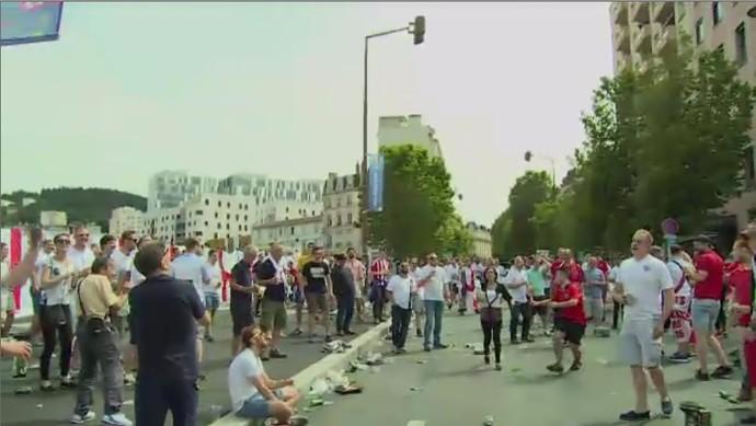Torcida Inglaterra Euro 2016 (Foto: Reprodução/SporTV)
