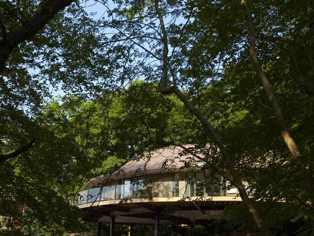 Casa na árvore do hotel Chewton Gley, na Inglaterra (Foto: Chewton Gley/Divulgação)