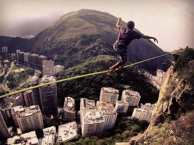 Raphael Alves no Morro do Cantagalo (Foto: Arquivo Pessoal)
