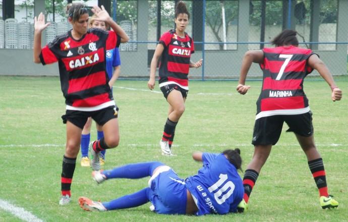 Flamengo massacrou o Barra Mansa por 10 a 0 (Foto: Divulgação)