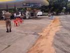 Em MG, óleo diesel vaza em posto de combustíveis e atinge Rio Doce