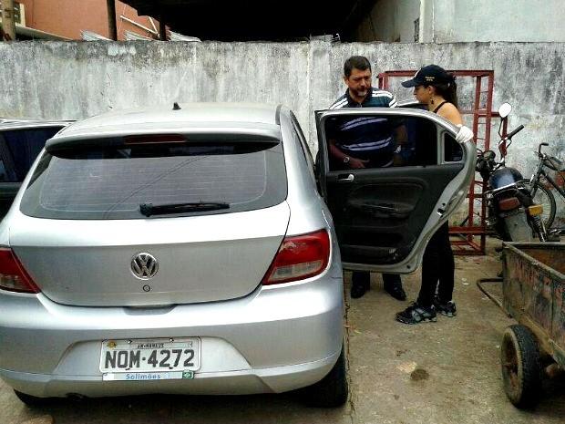 Carro foi encontrado após jovem ser morto em dezembro (Foto: Divulgação/Polícia Civil)