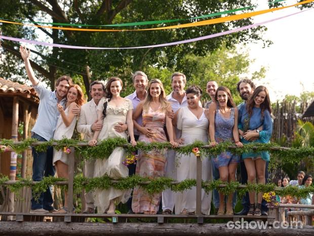Tapiré a cidade do amor! Todos os recém-casados juntos (Foto: Raphael Dias/TV Globo)