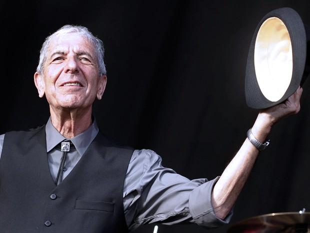 Leonard Cohen em foto de 20 de julho de 2008, no Festival de Benicassim (Foto: Diego Tuson/AFP)