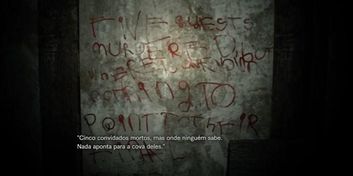 Enigma da demo de Resident Evil 7 envolve encontrar quatro cadáveres pela casa (Foto: Reprodução/Felipe Demartini)