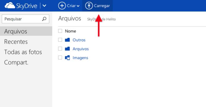 Enviando arquivo para o SkyDrive (Foto: Reprodução/Helito Bijora) (Foto: Enviando arquivo para o SkyDrive (Foto: Reprodução/Helito Bijora))