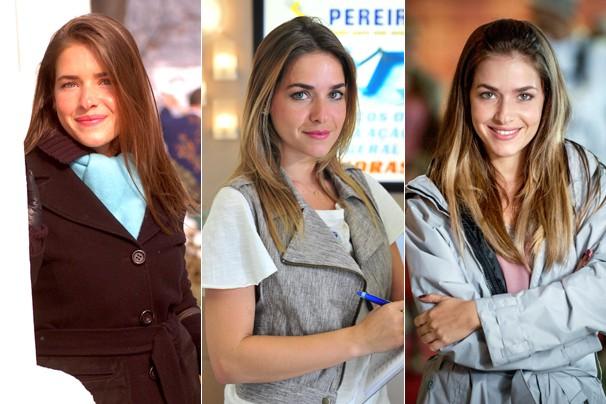 Monique Alfradique como Branca, em A Lua Me Disse (2005), como Bia, em Fina Estampa, e em Didi, O Peregrino (2013) (Foto: Globo)