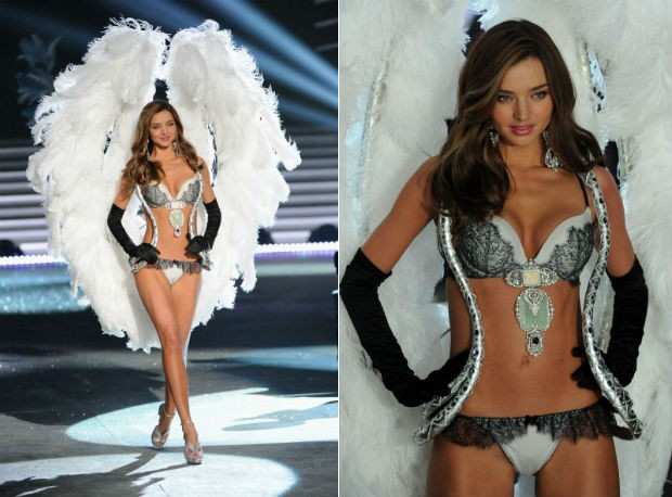 A top australiana durante o Victoria's Secret Fashion Show 2012 (Foto: Getty Images)