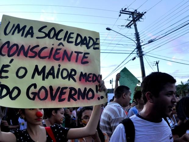 Manifesto Acre (Foto: Eduardo Duarte / G1)