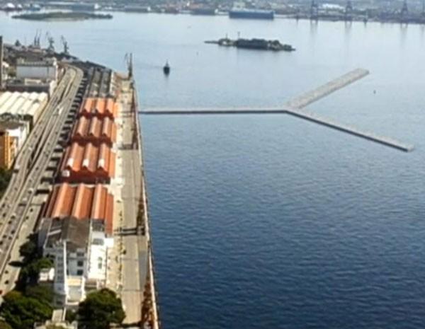 Prefeitura anunciou novo local para contrução do Píer em Y (Foto: Reprodução/ TV Globo)