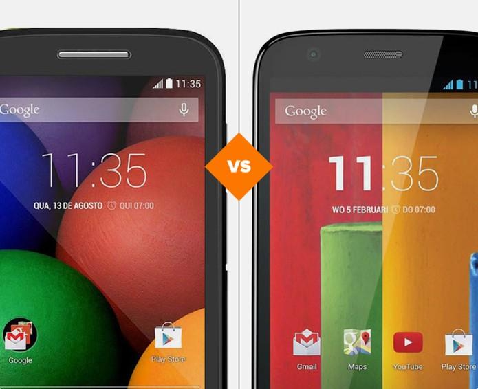 Moto E ou Moto G, qual dos intermediários da Motorola se sairá melhor nesta disputa? (Foto: Arte/TechTudo)