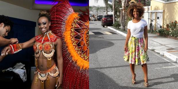 Vânia Love no carnaval de 2012 e hoje (Foto: Danieel Pinheiro/Divulgação | Reprodução/Instagram)