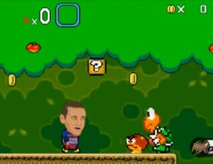 Neymar em sátira do game Mario World