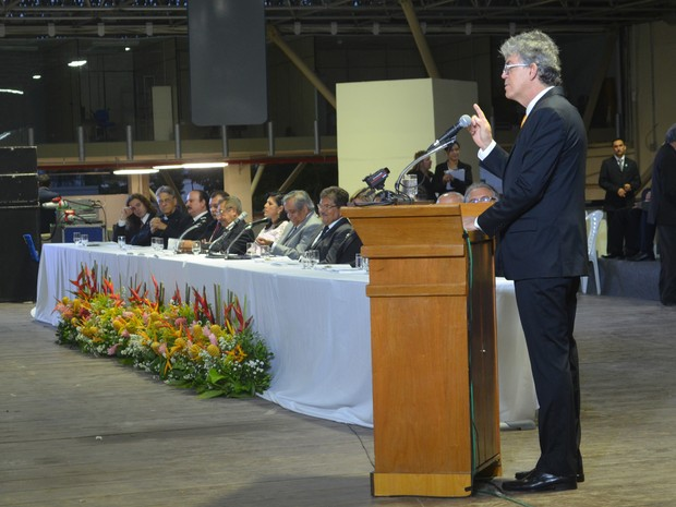 Na cerimônia de posse Ricardo Coutinho falou sobre os desafios da nova gestão (Foto: Kleide Teixeira/Jornal da Paraíba)