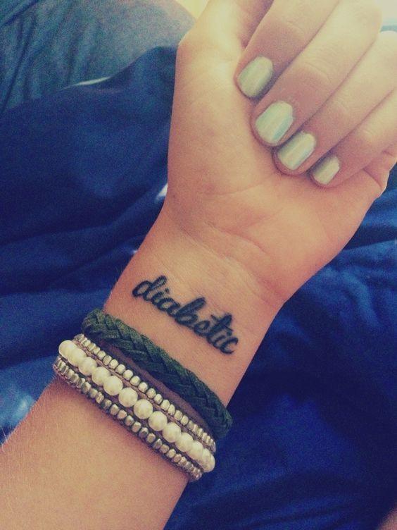 Tatuagem com indicação de diabetes (Foto: Reprodução)