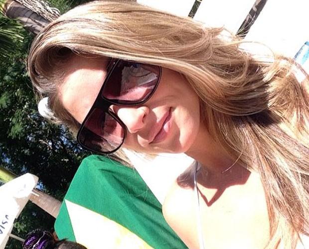 Angfela Sousa curte férias em Goiás (Foto: Arquivo Pessoal)