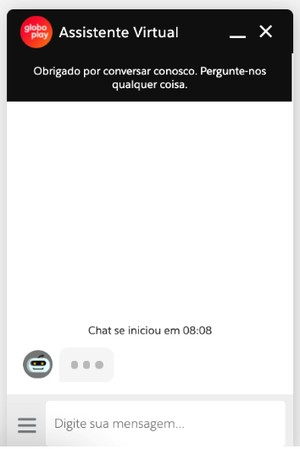 Chat Online - Minha Conta (Foto: Globoplay)