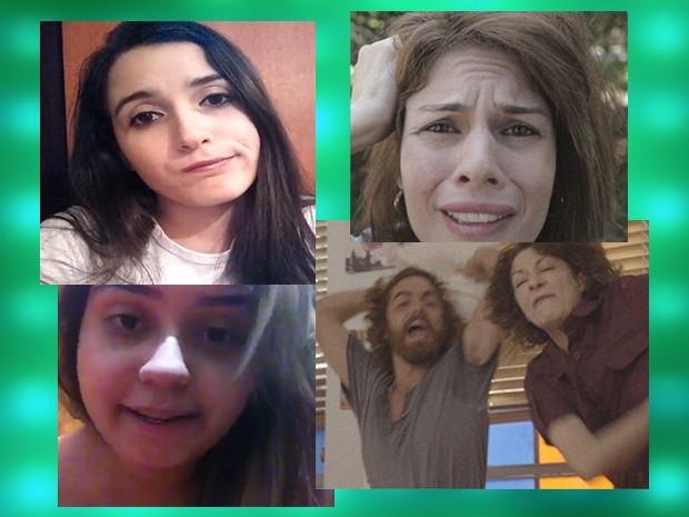 Imagens dos quatro vídeos de nem-nens que chamaram atenção dos apresentadores do GNN (Foto: Parker TV)