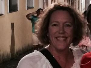 Shelley de Villiers assistia os jogos da Copa, em Salvador (Foto: Reprodução / Facebook)