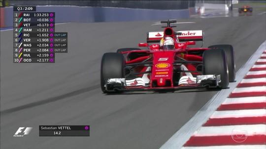 """Vettel diz se sentir """"em outro planeta"""" ao conquistar 1ª pole da Ferrari em 2017"""