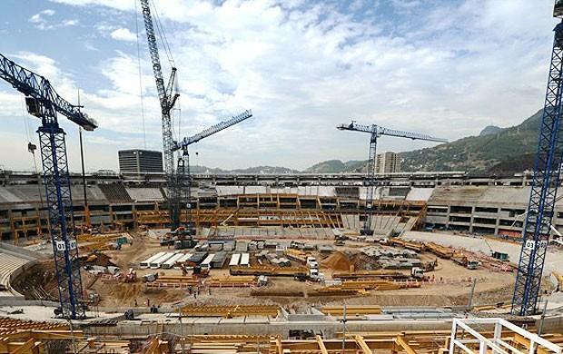 Obras estádio Maracanã, Rio de Janeiro (Foto: Divulgação / Site oficial da Fifa)