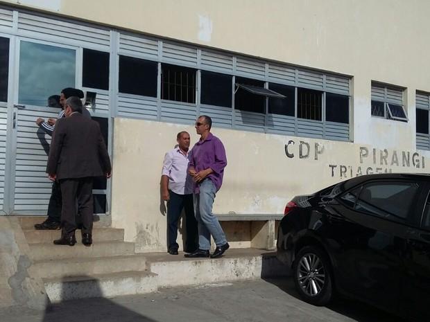 Juiz da Vara da Execução Penal, Henrique Baltazar, visita CDP em Natal (Foto: Sérgio Henrique/Inter TV Cabugi)