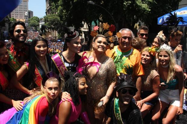 Preta Gil e Fernanda Souza no bloco (Foto: AgNews  / AgNews)