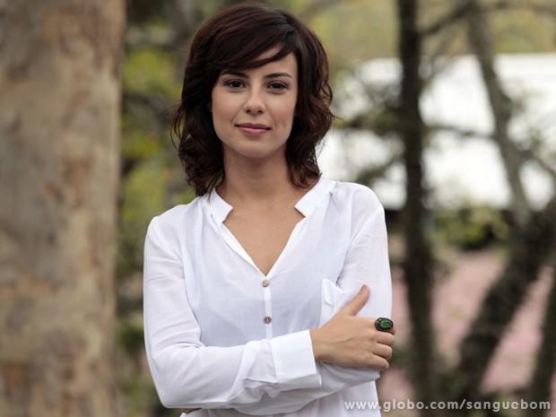 Andreia Horta acredita na redenção de Amora (Foto: Sangue Bom/TV Globo)