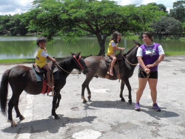 Colônia de férias no Clube Jaó, em Goiânia, Goiás (Foto: Anderson Freitas / Divulgação)