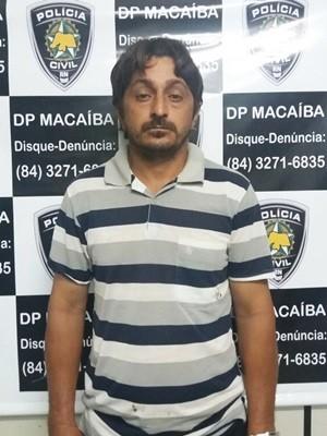Josinaldo Ivanildo Alves da Silva, de 42 anos, foi preso em Macaíba, na Grande Natal (Foto: Polícia Civil/Divulgação)