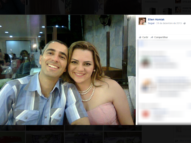 Esposa é a principal suspeita de participar do sumiço do PM (Foto: Reprodução/Facebook)