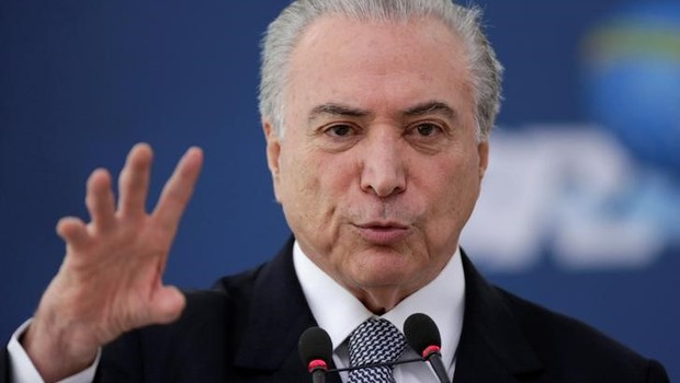 Presidente do Brasil, Michel Temer, durante evento no Palácio do Planalto, em Brasília (Foto: Ueslei Marcelino/Reuters)