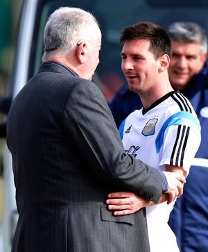 Messi e Julio Grondona presidente AFA (Foto: REUTERS)
