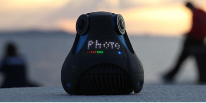 A a360 conta com três conjuntos de lentes fisheye  (Foto: Reprodução/Kickstarter)