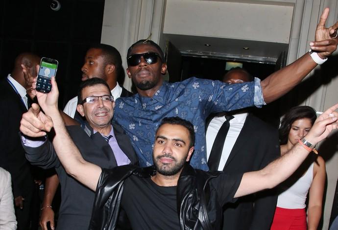 Usain Bolt no restaurante Nozomi londres (Foto: Splash News / AKM-GSI )