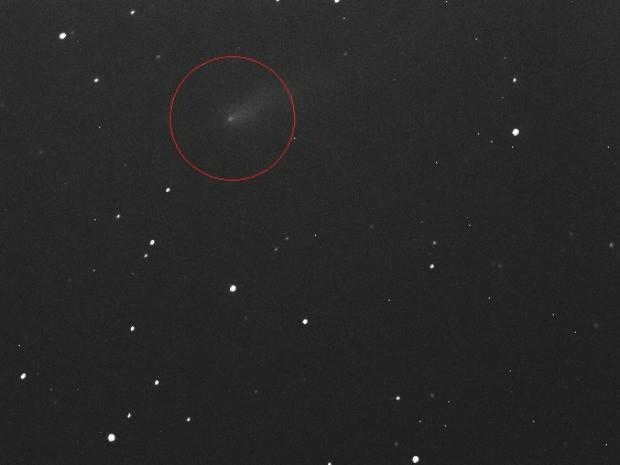 Cometa ison é fotografado no céu do Ceará quando passava pela constelação de leão (Foto: CASF/Divulgação)
