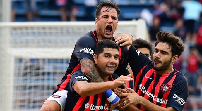 Ortigoza; gol; San Lorenzo; Belgrano; Campeonato Argentino (Foto: Divulgação/San Lorenzo)