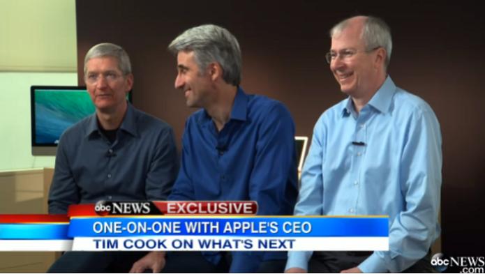 Executivos da Apple estão dando muitas entrevistas (Foto: Reprodução/ABCNews) (Foto: Executivos da Apple estão dando muitas entrevistas (Foto: Reprodução/ABCNews))