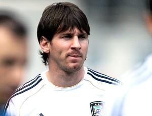 Messi no treino da seleção da Argentina (Foto: AP)