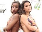 Bruna Marquezine e Roberta Rodrigues gravam cena do 'Garota da Laje' no Alemão